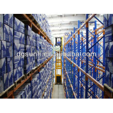 China warehouse storage very narrow-aisle(VNA) pallet racking systems