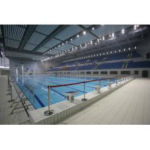 Cobertura de piscina de telhado de aço moderno espaço quadro