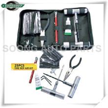 25 kits de réparation de pneu de voiture de PCS Kit d'outils d'insertion de pneu sans chambre à air