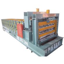 Трехэтажная профилегибочная машина для производства кровельных и стеновых панелей PPGI