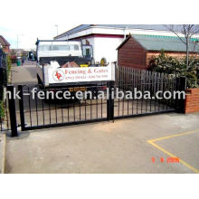 wire fence gate