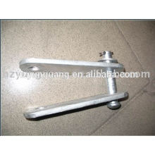 accesorios para líneas aéreas accesorios de horquilla de acero galvanizado en caliente ajuste la placa del yugo cable de alimentación accesorios de metal prensados