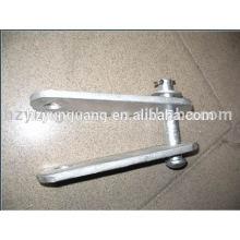acessórios de linhas aéreas hot-dip de aço galvanizado clevis ajustar yoke placa de linha de alimentação de hardware de montagem de peças de metal pressionado