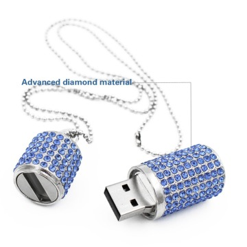 Estilo de batom Crystal Necklace 16GB Usb Memory stick