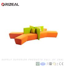Orizal naranja muebles de la sala dubai modular seccional esquina sofá sofá (OZ-OSF031A)
