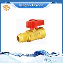 Gas, agua, válvulas de gas de latón de aceite trabajo medios