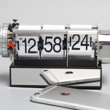 Dynamic Alarm White Flip Clock for Decor