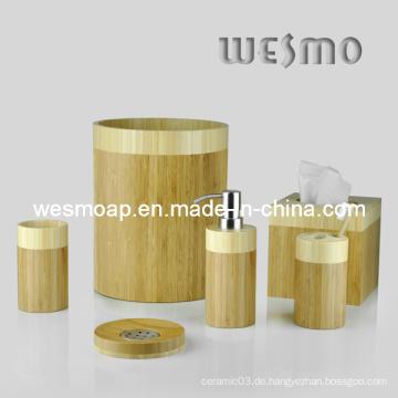 Zwei-Tone Bambus Badezimmer Zubehör (WBB0326A)