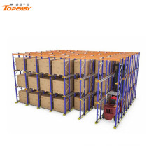 armazenamento de armazém indutrial rack de palete de metal drive-in