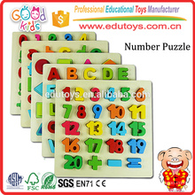 Klassische Zahlen 1 bis 20 Puzzle Board, Kinder Playschool Raised Wooden Puzzle Board