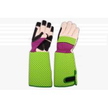 Lange Manschettenhandschuh-Gartenhandschuh, Sicherheitshandschuh-Handschuh-Arbeitshandschuh