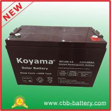Bateria acidificada ao chumbo de 12V 100ah AGM para telecomunicações, solar & UPS
