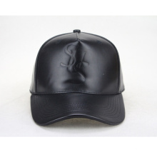 Leather Strap Flat Leather Brim Baseball Cap