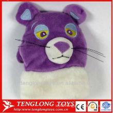 2013 hot sale plush animal head shape winter gloves