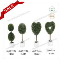 Самые продаваемые мини-пластиковые декоративные топиарные растения Вишневое цветение дерева H10-19 см