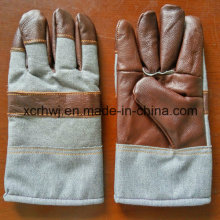 Winter Working Glove, Winter Working Warm Gloves, Cow Grain Leather Fleecy Lined Winter Warm Working Gloves