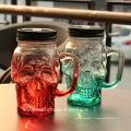Cran Shape Glass Moson Jar pour boire une tasse ou une tasse avec un bouchon