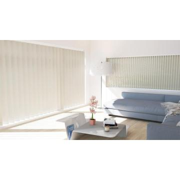Fabric vertical blinds for sliding glass doors