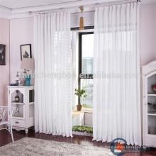 Elegante weiße Voile Leinen Stoff Hotel Vorhänge und Vorhänge