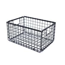 KINDOME Amazon Hot Sales Rectangular Foldable Black Metal Wire Grid Storage Bins