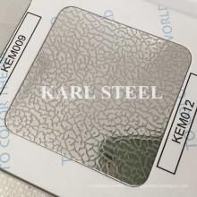 Тисненый лист нержавеющей стали 201 Kem012 на отделочные материалы