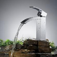 Современная Ванная комната раковина Кран палуба установлен одной ручкой Латунь хром Смеситель