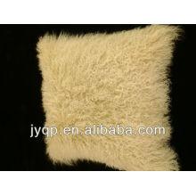 Coussins en fourrure d'agneau pur Tibet