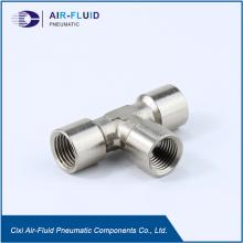 Lucht-vloeistof Brass gelijke Tee metrisch/BSPP-binnendraad