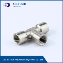 Air-Fluid Brass  Equal Tee Metric/BSPP Female Thread