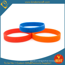 High Quality Hot Sale Debossed Logo Silicone Rubber Bracelet Wristband From China