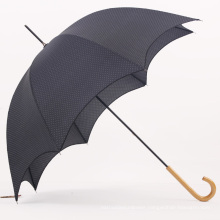 Manual Open Wood Handle Straight Umbrella (BD-38)