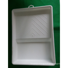 "9"" White Virgin Material Paint Tray"