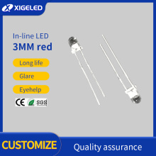 In-line LED 3MM red high power lamp beads