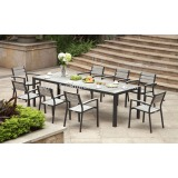 Outdoor wholesale restaurant furniture-8pcs table set