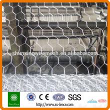 Torção de tecelagem e caixa de gabião dobrada