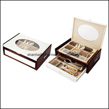 72PCS 84PCS Cutlery Set with Wood Case
