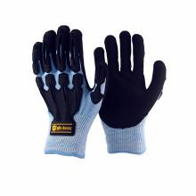 NMSAFETY schwarze Nitril beschichtete Schutzhandschuhe