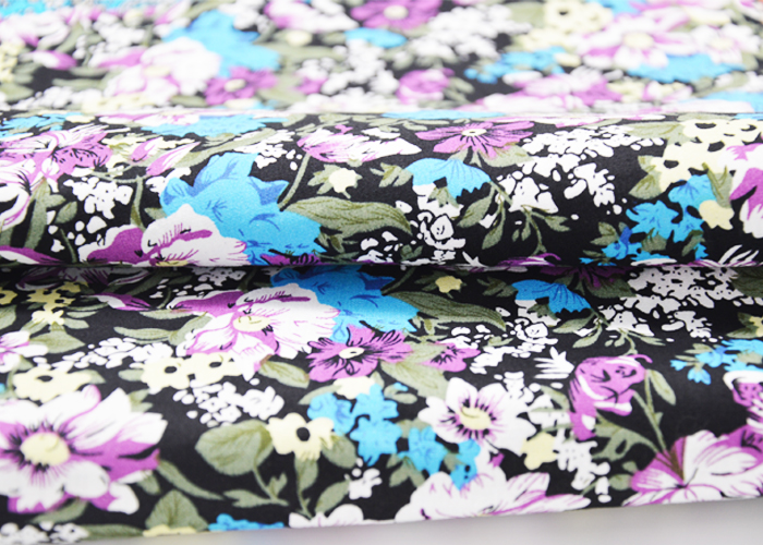 90 Polyester 10 Cotton Plain Fabric