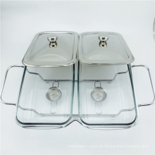 Pote de aquecimento por calor barato / prato de aquecimento por atrito prateado