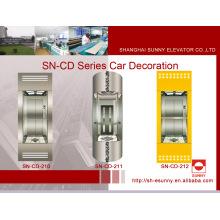 Beobachtungs-Aufzugkabine mit Hairline-Überdachung (SN-CD-210)
