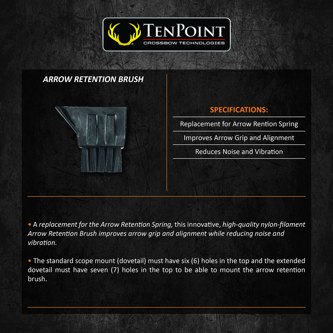 TenPoint_Arrow_Retention_Brush_Product_Description