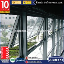Guangzhou Alufront Australian standard AS2047 aluminum awning windows for commercial projects