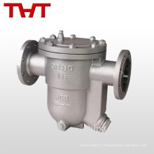 Purgeur thermostatique manuel en acier inoxydable à condensat en acier inoxydable