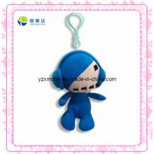 Lustige blaue Plüsch-Puppe Keychain Spielzeug