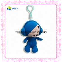Funny Blue Plush Doll Keychain Toy