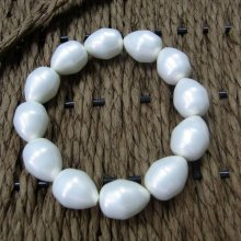Large Pearl  Beads Bracelet for Wedding 2017