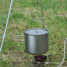 Lidar com Panela de acampamento Conjunto de cozinha e utensílios de mesa