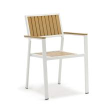 Wholesale aluminium PS wood plastic wood outdoor garden chair