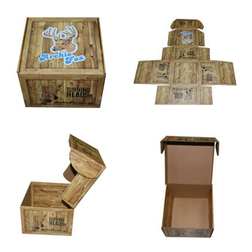 Custom Printed Easy Foldable Paper Corrugated Box