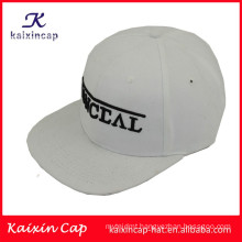 high quality&promotional 3D logo in font flat brim 5 panels camper hats with leather strap back